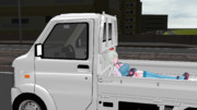 トラックで爆睡しているらいちさん