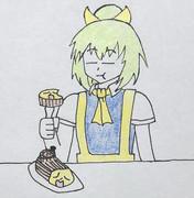 ブッシュ・ド・NELを食べるぢゆし