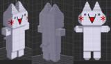 【アスキーアート】3Dつーちゃん【3D化計画】