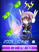 ◆長門ちゃんとキミドリさん待受Flash時計 & ライブ壁紙
