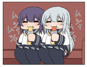 メンテ中に駄菓子を食べる暁響