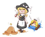 一緒に砂場で遊ぶSZ姉貴