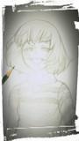 鉛筆でアンダーテールのcharaを描いてみた