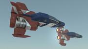3DCGソフトShade3Dでコアファイターをつくった。その参