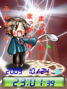 ◆古泉一樹(はちゅねバージョン)待受Flash時計