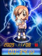 ◆とある科学の超電磁砲 御坂美琴 待受Flash時計