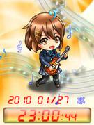 ◆けいおん! 平沢 唯 待受Flash時計