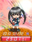 ◆けいおん! 中野 梓 待受Flash時計