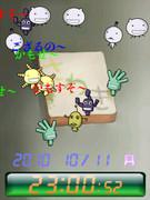 ◆もやしもん 菌 待受Flash時計