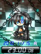 ◆ブラック★ロックシューター 待受Flash時計