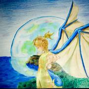 竜の翼を持つ少女