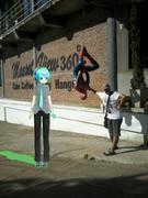 Kemika Mikuo Came Spiderman Model Upside Down