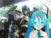 Cyber Miku Stand To Jazz Model On Picture