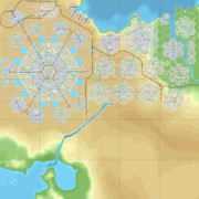 【CitiesSkylines】六角形の区画だけで街をつくる_Ep17時点MAP