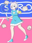 マリオテニスするシロちゃん