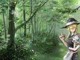キノコ狩りの男