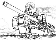 重力砲を搭載した大和(ラフ)