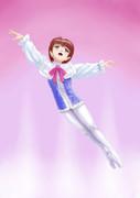王子役を踊る少女