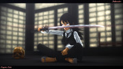 MMD - Initiation with the cursed katana.