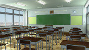 【フリー背景素材】教室