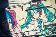 渋谷 壁ミク