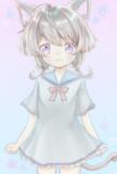 フリーアイコン 猫擬人化ロリ娘ちゃん