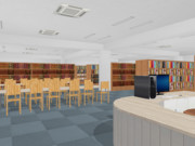 【MMDステージ配布あり】学校図書室