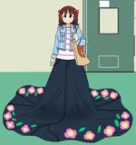 スカートの裾がやたらと長すぎる春香さん