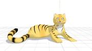 【MMDアクセサリ配布あり】虎の置物