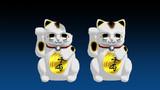 【MMDアクセサリ配布あり】招き猫と欠けた招き猫