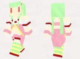 【minecraft】サクランボ(花騎士) スキン(サンプル)