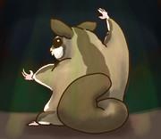 踊るモモンガ