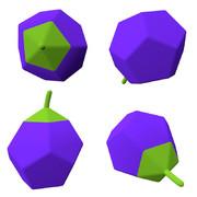 側錐十二面体のナス