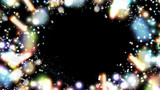 華やかな光のフレーム(背景)