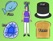 FIGHT (Fish, Ice, Girl, Hat, Toast)