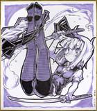 妖夢黒スト色紙