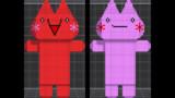 【アスキーアート】しぃちゃん&つーちゃん NC風カラーリングモデル【3D化計画】