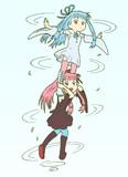 スピンジャンプする琴葉姉妹