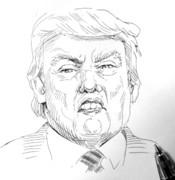 10分スケッチ:トランプ大統領