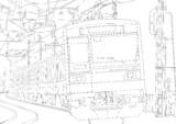 【線画】常磐線E233系描いてみたww