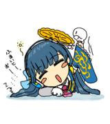 肩の力を抜き過ぎて眠りに落ちそうにエールを送るポン子