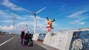 MMDを実写になじませるための練習5 「茨城県鹿嶋市 鹿島灘シーサイドロードの風力発電機」