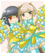 チアヌートリアちゃん&チアアデリーちゃん。