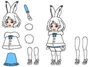 ホッキョクウサギ(新)PNG