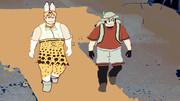 アニメイベントに向かうかばんちゃんとサーバルちゃん