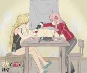 【支援絵】マキと茜と時々ゾンビ