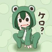 カエルパーカー梅雨ちゃん
