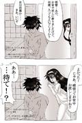 一コマ42「風呂場in初霜(白ヘアバンド)」