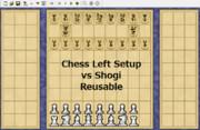 【変則将棋】修正版:チェス(左配置)vs将棋【対局】