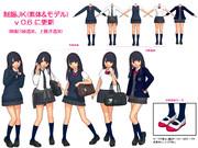 【MMD】制服JK(素体&モデル) v0.6に更新